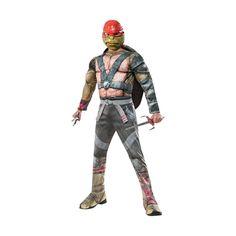 Deluxe Muscle Chest Teenage Mutant Ninja Turtle Raphael Halloween Costume for Kids - Medium