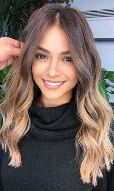 Brown Hair With Blonde Highlights, Hair Highlights, Brown Blonde Balayage, Light Brown Ombre Hair, Long Ombre Hair, Bayalage Light Brown Hair, Medium Length Ombre Hair, Blonde Hair For Brunettes, Brown Hair Dip Dyed Blonde