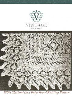 Downton Abbey era 1900s lace stitch baby christening shawl