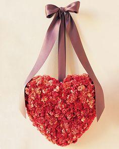 Homemade Cockscomb Valentine Wreath