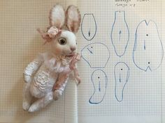Зайка. Plushie Patterns, Doll Patterns, Sewing Patterns, Bear Patterns, Fabric Animals, Fabric Toys, Bunny Toys, Bunnies, Bear Doll