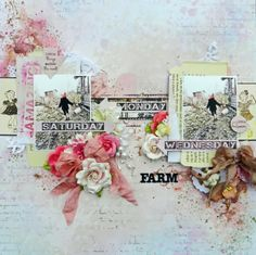"""Farm Girl"": A Layout for 7 Dots Studio scrapbook page"