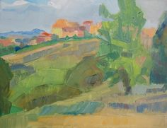 Laura Grosso 2015 oil on canvas 35x45cm. Roma, parco delle Betulle