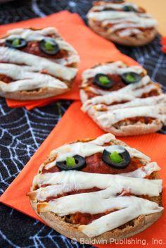 Pizza Mummies Recipe  #halloween #snacks #pizza