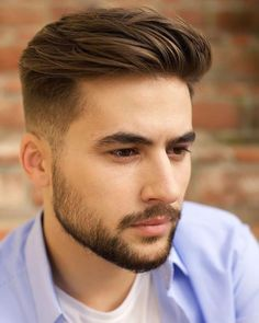 Ideas Hairstyles For Men Short Beard Styles You are in the right place about mens hairstyles 2020 Here … Trendy Mens Hairstyles, Mens Hairstyles With Beard, Hair And Beard Styles, Hairstyles Haircuts, Curly Hair Styles, Hair Style For Men, Short Beard Styles, Men Hairstyle Short, Teenage Boy Hairstyles
