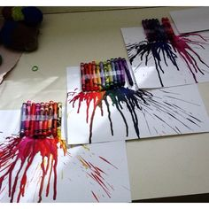 Melted crayon art with my kiddies!