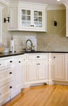 corner sink placement- probably means more counter space everywhere else