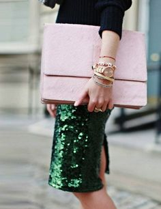 { Pastel pink over sized bags }
