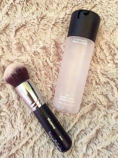 PRETTY & PUT TOGETHER: Glowing Dewy Skin Tips & Tricks- MAC Fix+ and Morphe Brushes M439