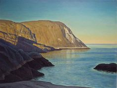 """Maine Headland, Evening,"" Rockwell Kent, ca. 1950, oil on canvas, 34 1/8 x 44"", private collection."