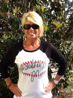 Baseball mom baseball jersey by HeyYallandCo on Etsy