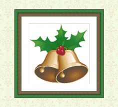 Christmas Bells Instant Download Cross Stitch Pattern Holly | Etsy Christmas Bells, Beautiful Christmas, Cross Stitch Patterns, Etsy, Counted Cross Stitch Patterns