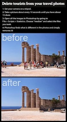 How to remove ALL tourists from your travel shots with this Photoshop hack