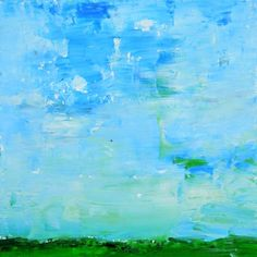 Giclee Print Oil Landscape Painting Wall Art Prints Pale Blue Sky No 60 - pinned by pin4etsy.com