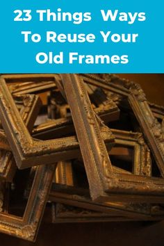 23 Awesome Things You Didn't Know You Could Do With Old Picture Frames. Transform your old picture frames with these 23 inspirational ideas. Transform your old picture frames with these 23 inspirational ideas.