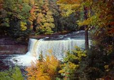Around Pictured Rocks - The upper Tahquamenon Falls is the second largest waterfall east of the Mississippi River.