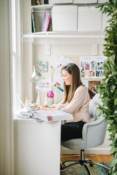 home office #hometour #theeverygirl
