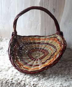 """Thanks for the kind words! ★★★★★ """"This is a beautifully woven gathering basket, bought as a gift to a herbalist friend. Arrived quickly and well-packaged so no damage during transit. Can't wait to gift it!"""" Ollie D. Rectangular Baskets, Square Baskets, Willow Weaving, Basket Weaving, Willow Flower, Willow Hand, Casket, Kind Words, Storage Baskets"""