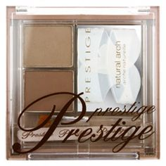 Achieve perfectly arched, gorgeously groomed brows at home or on the go with this complete shaping kit. Kit includes 2 brow powders, mini precision tweezers, natural arch shaping stencil, defining brush applicator and mirror. Eyebrow Makeup Products, Online Makeup Stores, Prestige Cosmetics, Brow Kit, Eyebrows On Fleek, How To Do Makeup, Brow Powder, Brow Shaping