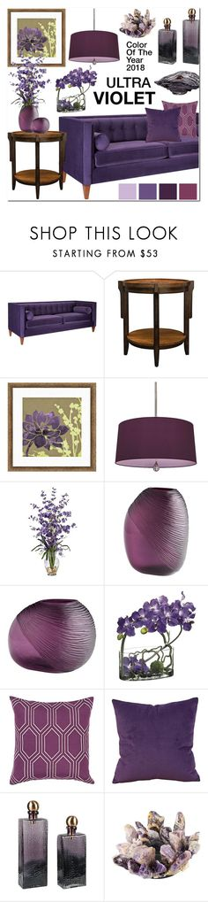 """""""Ultra Violet!"""" by lampsplus ❤ liked on Polyvore featuring interior, interiors, interior design, home, home decor, interior decorating, Jennifer Taylor, Surya, Howard Elliott and Dale Tiffany"""