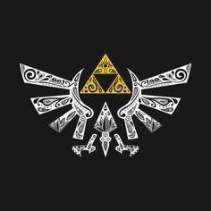 Hyrule Black - Zelda Tshirt Print Design by Art et Be The Legend Of Zelda, Legend Of Zelda Tattoos, Legend Of Zelda Breath, Cry Anime, Manga Anime, Anime Art, Doodle Magic, Heros Film, Mononoke