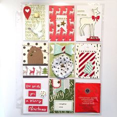 Christmas Pocket Letter, by Katherine Maynard using the Desktop and Christmas collections from www.cocoadaisy.com #cocoadaisy #scrapbooking #kitclub #pocketletter #treats #holiday #christmas #washi #tags #embellishments