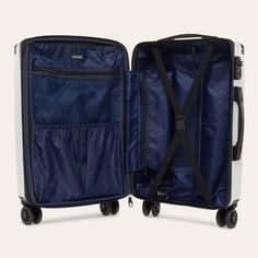 ) hard shell rolling carry-on combines function & style. Get noticed everywhere you go with rose gold, gold & silver suitcases. Calpak Luggage, Large Luggage, Luggage Sets, Travel Luggage, Carry On Suitcase, Carry On Luggage, New Travel, Ultimate Travel, Travel Party
