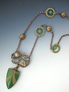 Repurposing Antique Brooches and Buckles into a Necklace   Upcycling Jewelry   Antique Brooch   Myra Schwartz   Jewelry Making Journal
