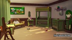 Lana CC Finds - Animal Abounds Bedroom Pack
