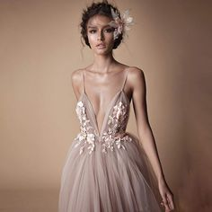 2019 Berta New Spaghetti Straps Backless Evening Dress Lace Appliques V Neck Prom Dresses Floral Flowers Long Party Gowns sold by June-Bride. Shop more products from June-Bride on Storenvy, the home of independent small businesses all over the world. Straps Prom Dresses, V Neck Prom Dresses, Tulle Prom Dress, Bridal Dresses, Evening Dresses, Bridesmaid Dresses, Dress Wedding, Tulle Wedding, Tulle Lace
