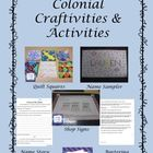 Colonial Craftivities #namesampler #crossstitch #shopsigns #quiltsquares $