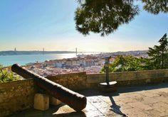Vistas panorámicas de Lisboa desde el Castillo de San Jorge