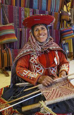 Inca weaver, Cusco, Peru.