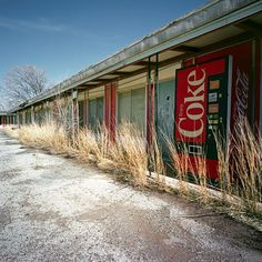 Abandoned Places lone coke machine