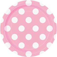 Lovely Pink Dots Paper Dessert Plates 8ct