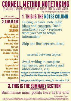 Cornell Method of Notetaking