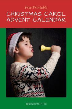 Christmas Carol Advent Calendar Printable