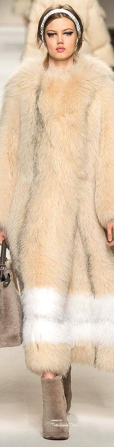 Fendi, Fall 2015 RTW  New fashion collection http://fashion.manysales.ru/  #furonline #furfashion #furbroker #furtrade #furbusiness  Auctions fur: http://furvipshop.blogspot.com