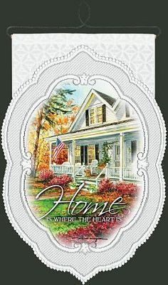 """Home Is Where The Heart Is"" wall hanging"