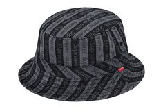 As part of this weeks drop at the Supreme store is this striking jacquard logo  crusher bucket hat. 9a9679fe6224