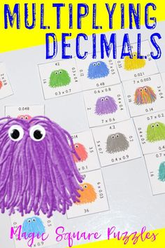 Are you looking for a fun, engaging way for your students to practice multiplying decimals? Then check out this product! It's great for 4th, 5th, and 6th grade students, but it specifically helps address CCSS 5.NBT.B.7. These work great for early or fast finishers, GATE, enrichment, math centers, and more! Click through to check it out! $