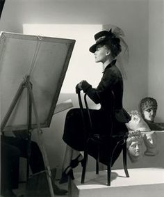 Fashion with Easel, Reboux Hat, Cartier Jewels (Estrella Boissevain), Horst P. Black White Photos, Black And White Photography, Old Photos, Vintage Photos, Horst P Horst, 1999 Fashion, Vintage Fashion Photography, French Fashion, Fashion History