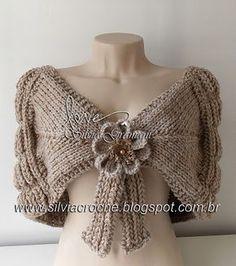 feminino, acessório, dourado, estola, estola de trico, flor de croche, croche