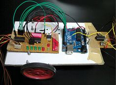 Here we present a simple Arduino-board based robot that can be driven remotely using an RF remote control. This robot can be built very quickly in a small budget. The RF remote control provides the advantage of a good controlling range (up to 100 metres with proper antennae) besides being omnidirectional. Circuit description The block