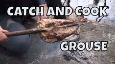 Cooking Grouse on a Campfire