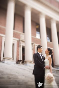 Wedding at Harvard Faculty Club   Zev Fisher Photography - The #BrideandGroom before the #ceremony #BostonWeddingPhotographers #BostonWeddingPhotography #BostonWeddings #BostonBridal