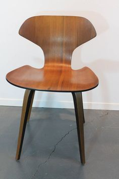 Set of Six George Mulhauser for Plycraft Bentwood Dining Chairs | From a unique collection of antique and modern dining room chairs at https://www.1stdibs.com/furniture/seating/dining-room-chairs/