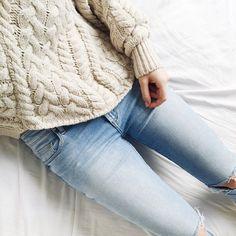 denim + knit.