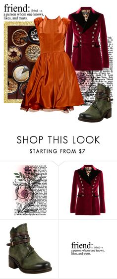 """Gather 'Round: Friendsgiving"" by krgood7 ❤ liked on Polyvore featuring Dolce&Gabbana, Sweet Note, A.S. 98, friends, pie, whatilove, turkey and friendsgiving"