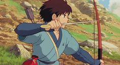 anime archer, archer anime, Ashitaka, Princess Mononoke